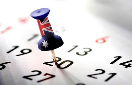 Feriados na Austrália em2016